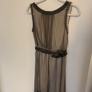 Anthropologie Tulle Overlay Cocktail Dress